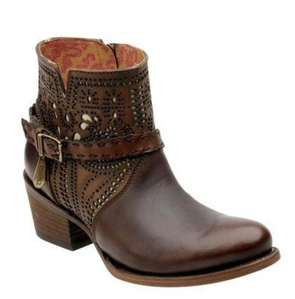 CUADRA Women's Brown Saltillo Ankle Boots - Round Toe
