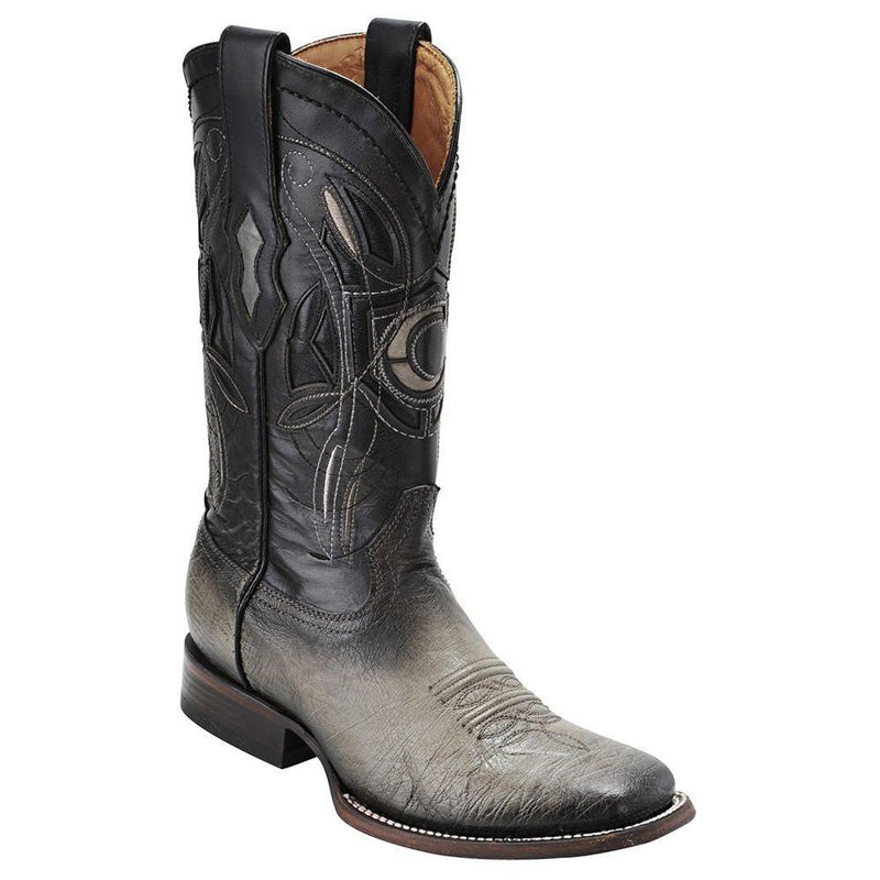 CUADRA Men's Grey Smooth Ostrich Exotic Boots - Square Toe