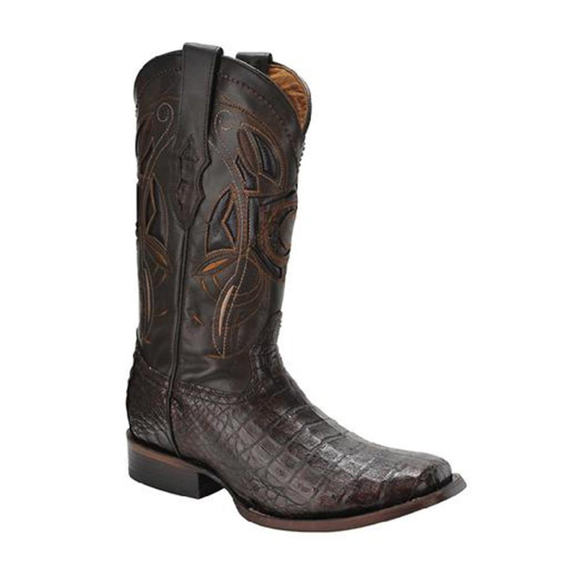 CUADRA Men's Lumber Whisky Caiman Exotic Boots - Square Toe