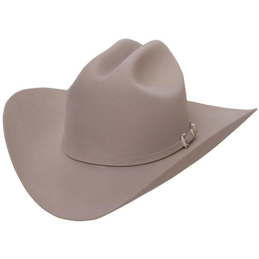 STETSON Men's Silver Belly 30X El Patron Fur Felt Cowboy Hat