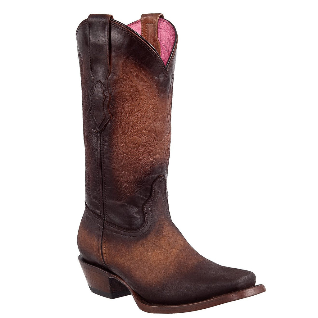 QUINCY Women's Honey/Faded Western Boots - Square Toe