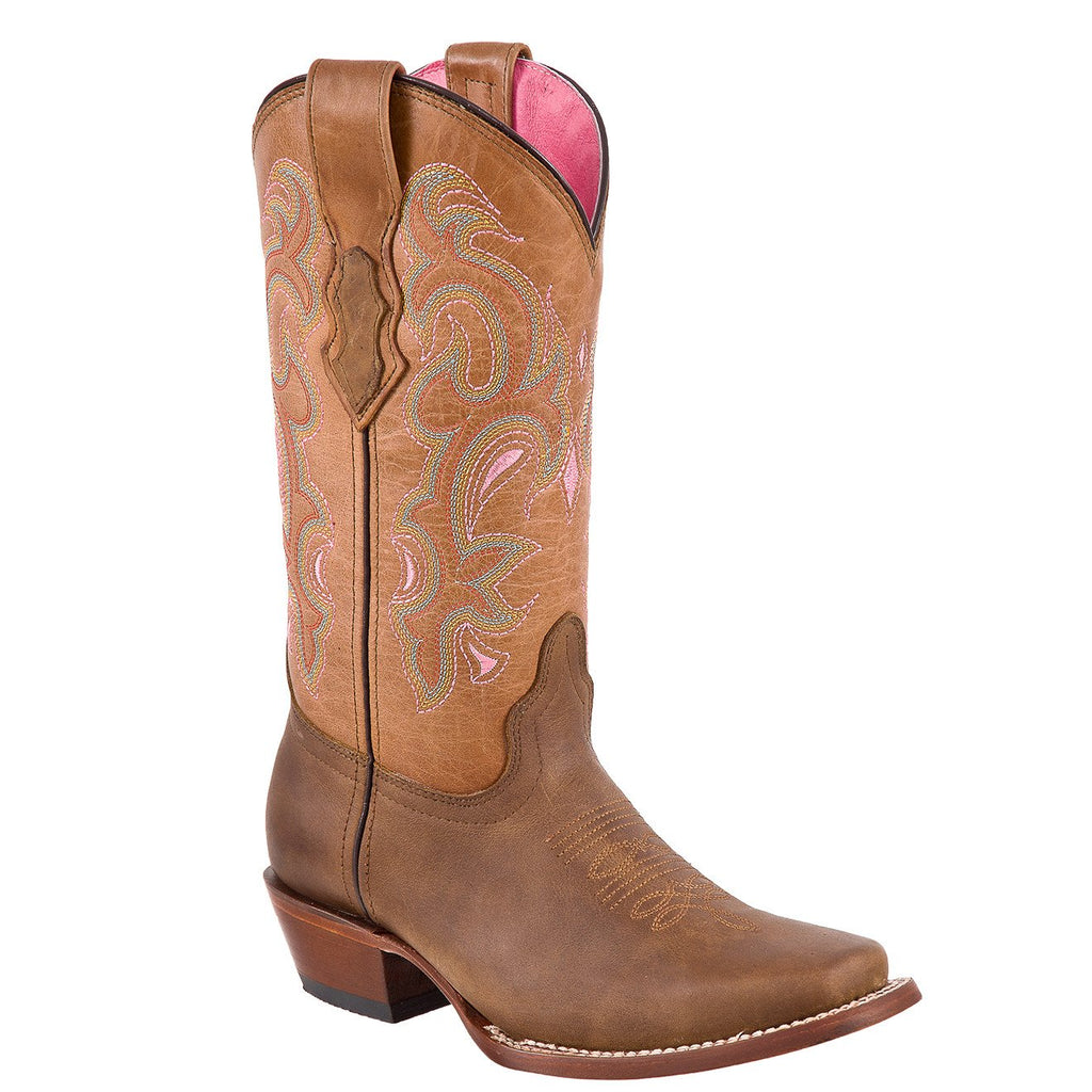 QUINCY Women's Honey Western Boots - Square Toe