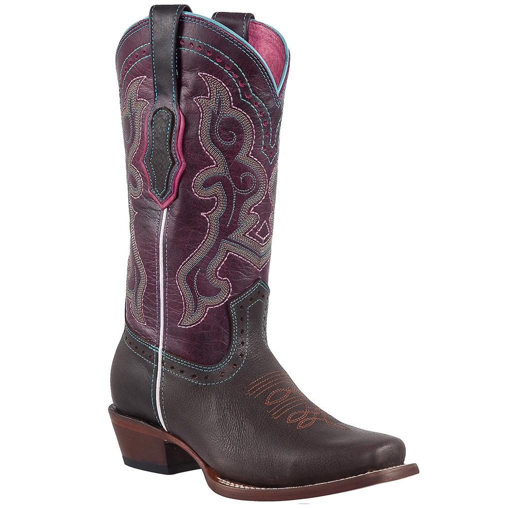 QUINCY Women's Choco Western Boots - Square Toe