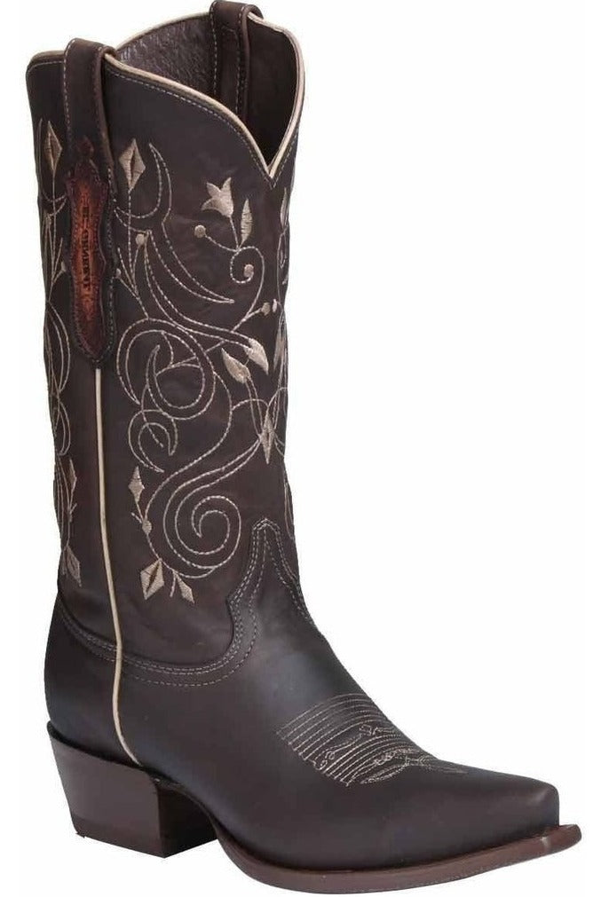 EL GENERAL Women's Choco Western Boots - Snip Toe