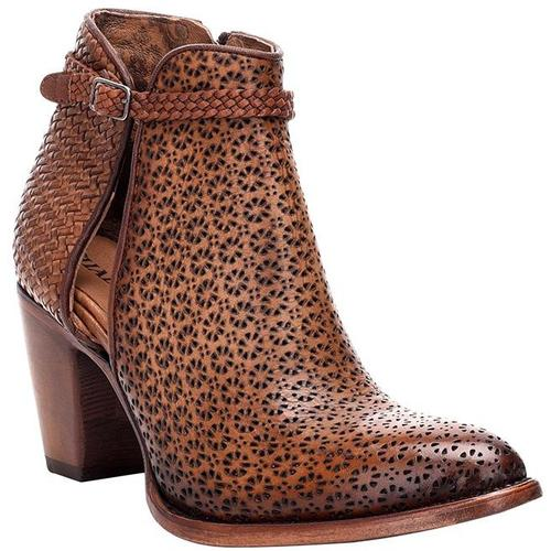 CUADRA Women's Tan Ankle Boots - Round Toe