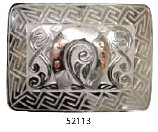 Men's Stainless Steel Western Belt Buckle