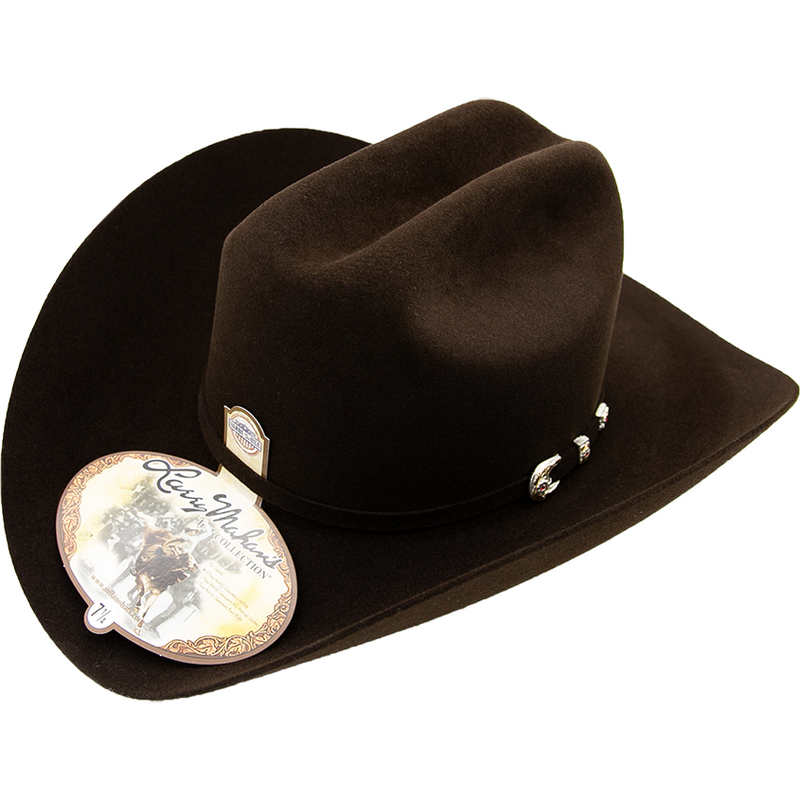 LARRY MAHAN Men's Black 100X Independencia Fur Felt Cowboy Hat