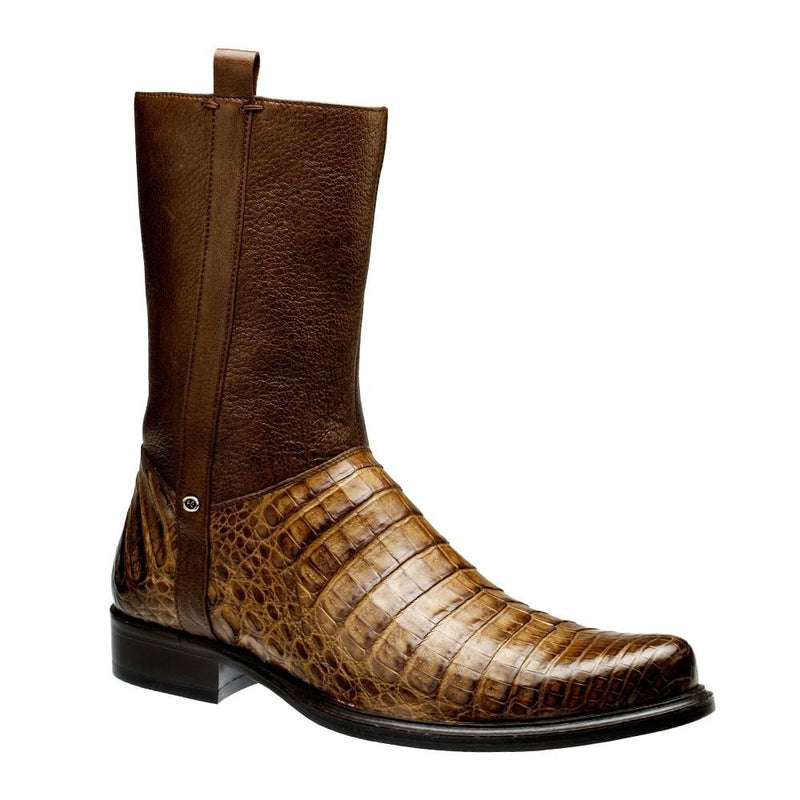 CUADRA Men's Orix Caiman Ankle Boots - Round Toe