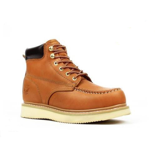 "AMERICAN SMITH Men's 6"" Cali Gold Work Boots - Moc Toe"