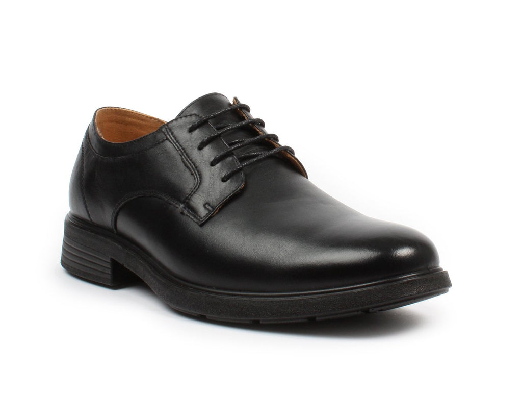 BONANZA Men's Black Derby Work Shoes