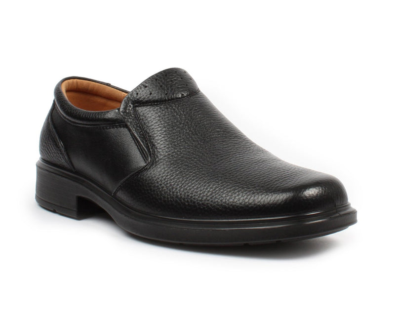 BONANZA Men's Black Slip-on Work Shoes