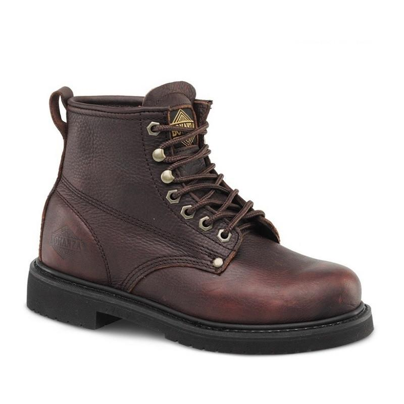 "BONANZA Men's 6"" Burgundy Work Boots - Plain Toe"
