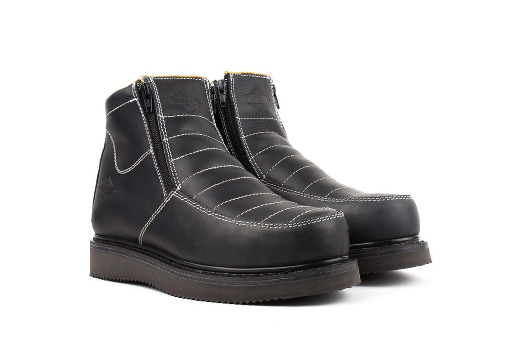 "BONANZA Men's 6"" Black Pull-on Work Boots"