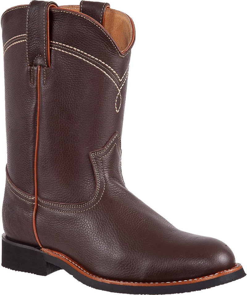 TIERRA BLANCA Men's Brown Roper Boots