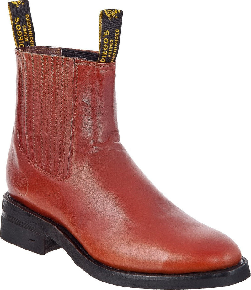 DIEGO'S Men's Tan Raga Ankle Boots