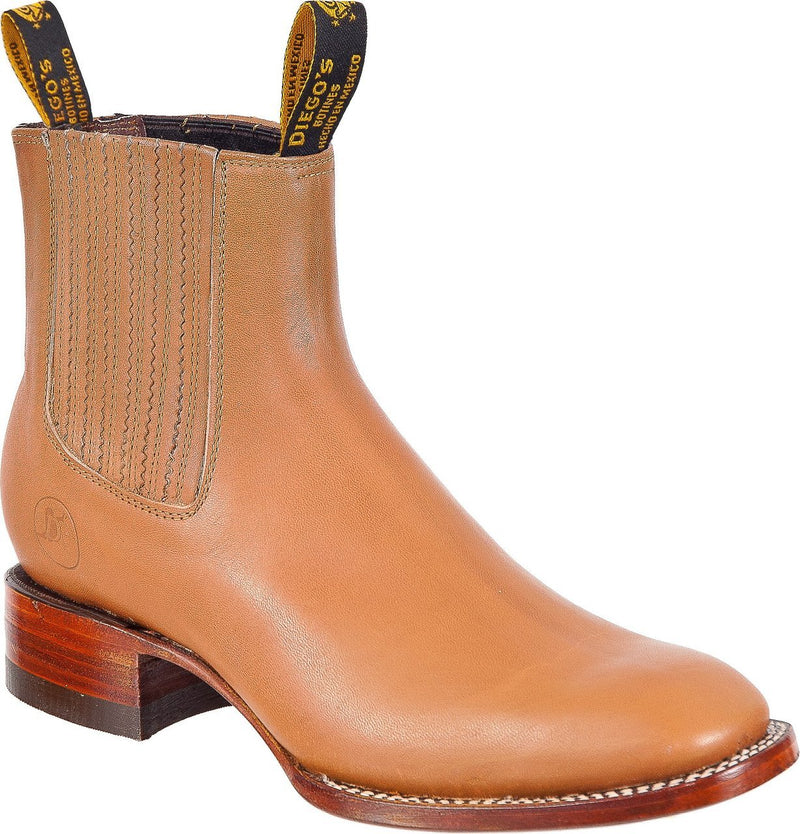 DIEGO'S Men's Tan Ankle Boots - Rodeo Toe