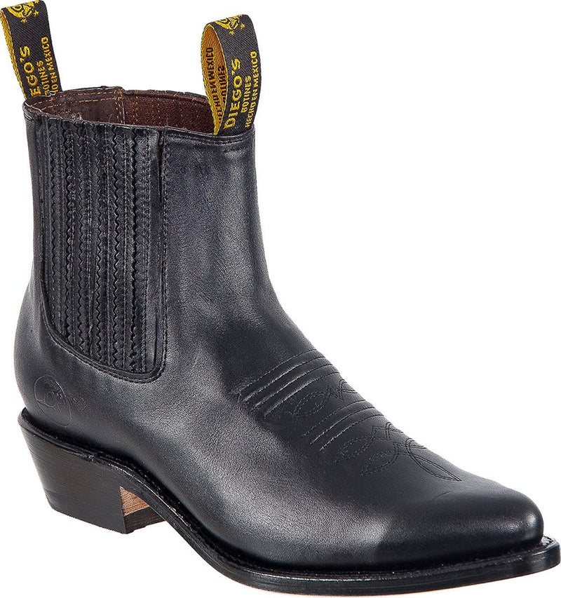 DIEGO'S Men's Black Camaleon Ankle Boots