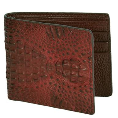 Men's Brown Caiman Hornback Wallet