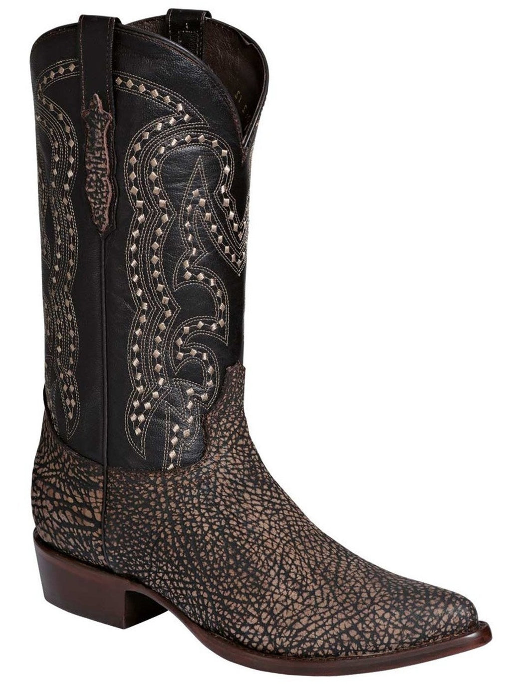 EL GENERAL Men's Cigar Bull Shoulder Cowboy Boots - Pointed Toe