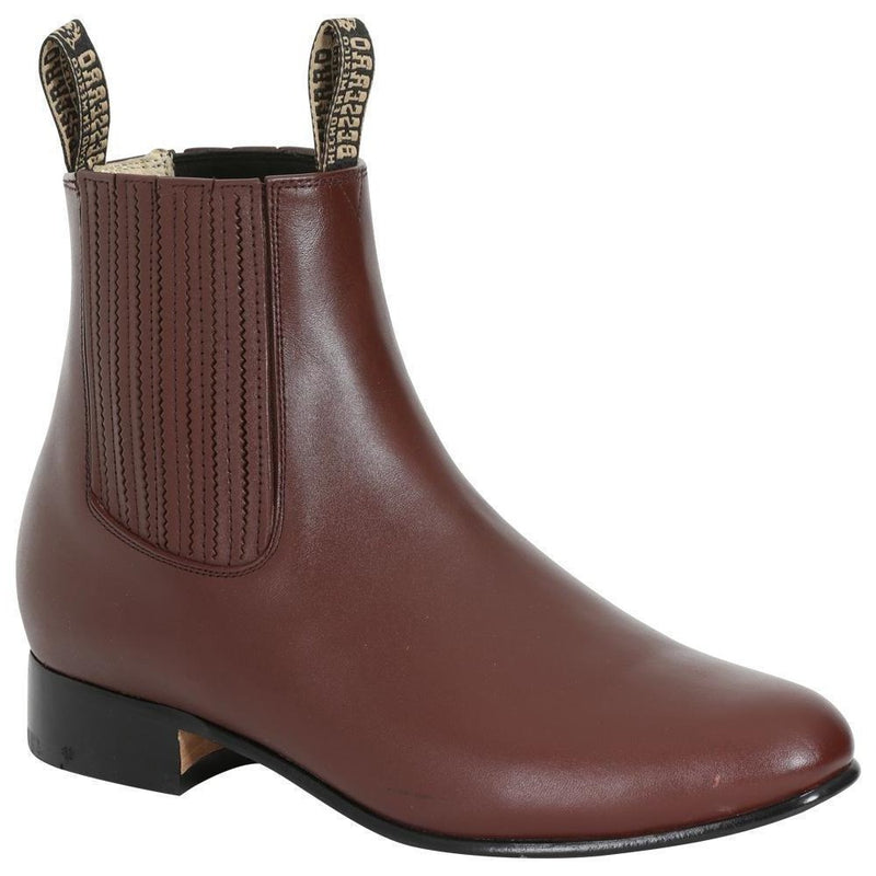 EL BESSERRO Men's Wine Ankle Boots