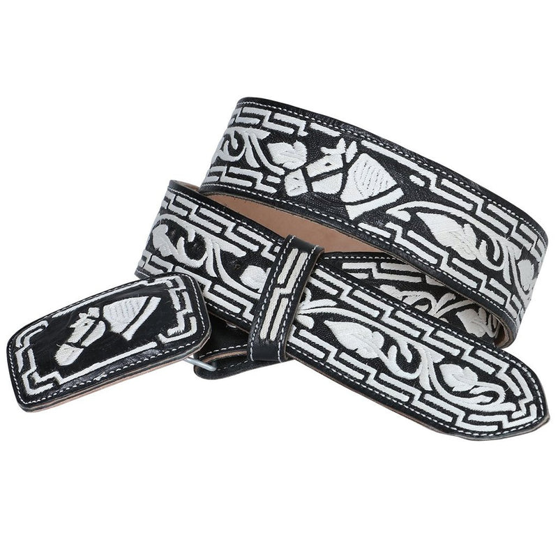 Men's Black Pita Thread Western Belt