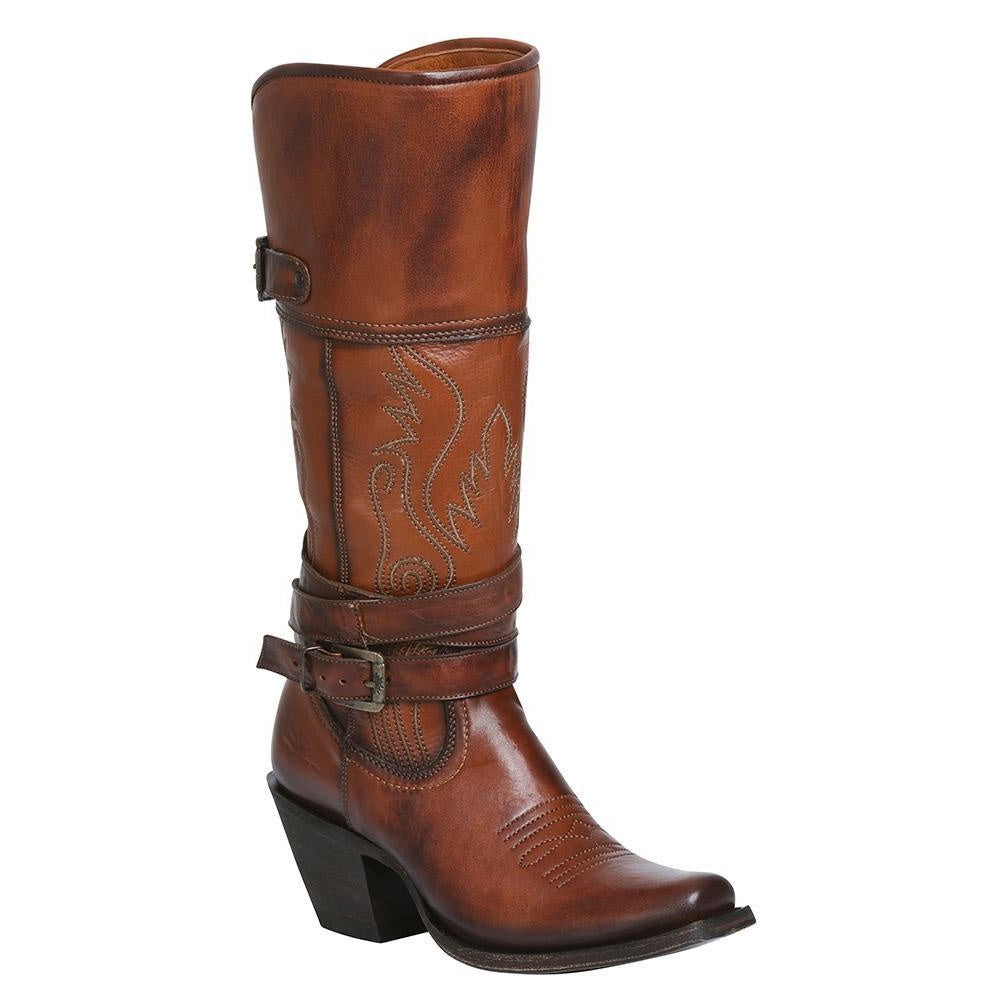 EL GENERAL Women's Whisky Western Boots - Square Toe