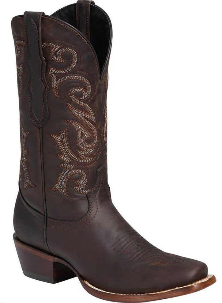 EL GENERAL Women's Choco Western Boots - Square Toe