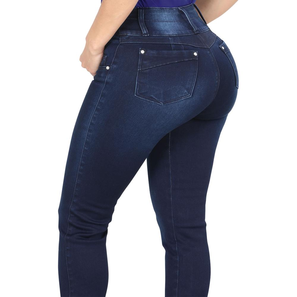 LAMASINI Women's Blue Butt Lifting Jeans