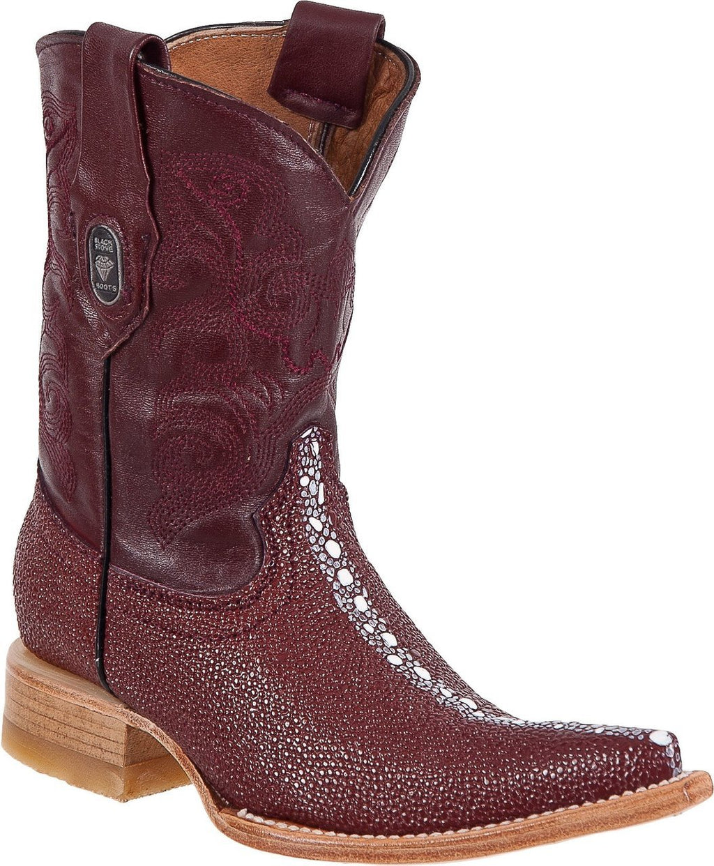 BLACK STONE Kids' Wine Stingray Print Boots - Ch Toe