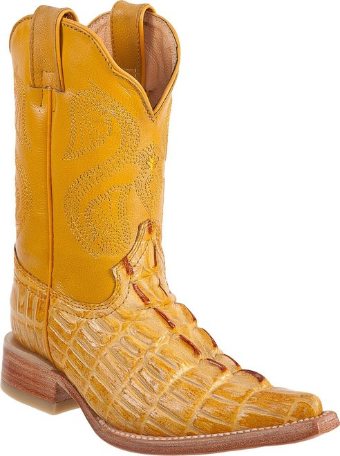 DIEGO'S Kids' Buttercup Crocodile Print Boots - Ch Toe