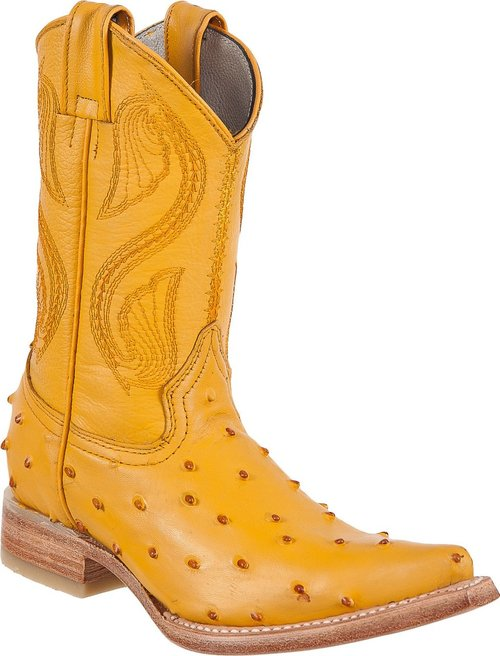 DIEGO'S Kids' Buttercup Ostrich Print Boots - Ch Toe