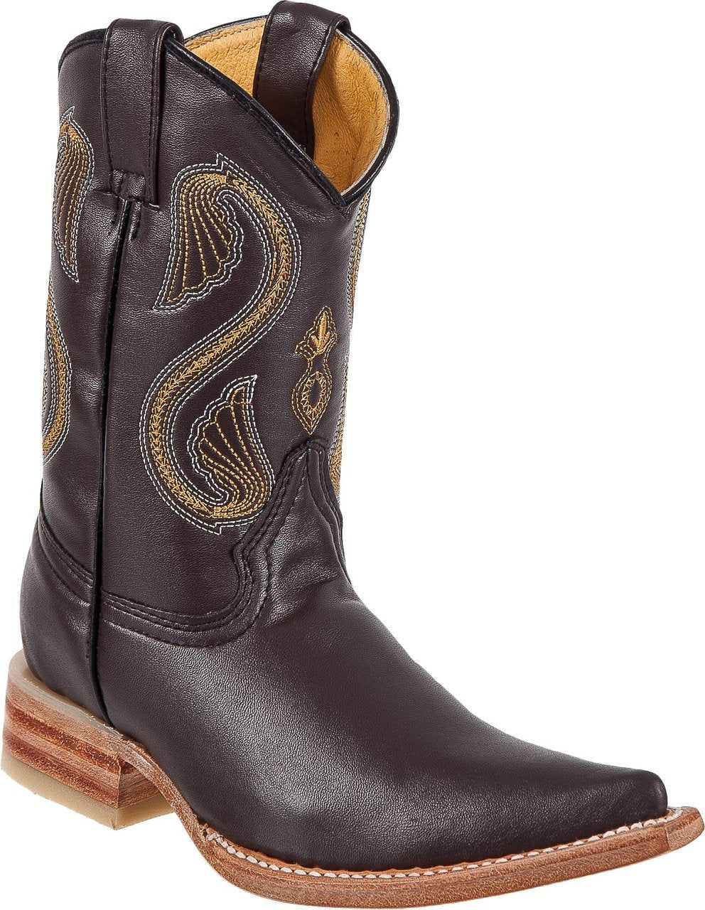 DIEGO'S Kids' Brown Goat Boots - Ch Toe