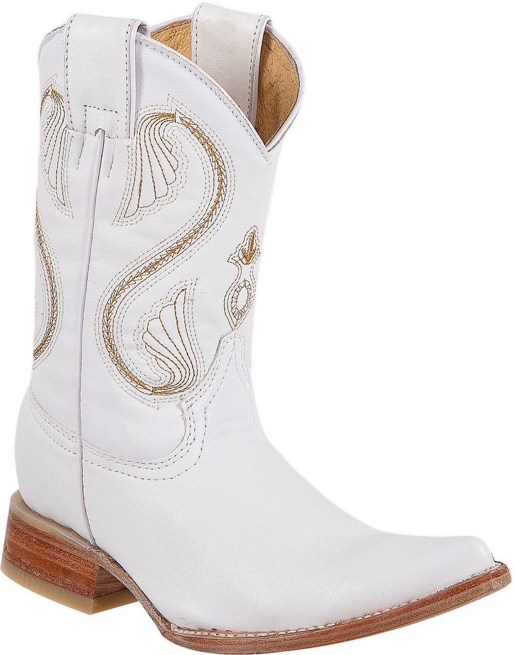 DIEGO'S Kids' White Goat Boots - Ch Toe