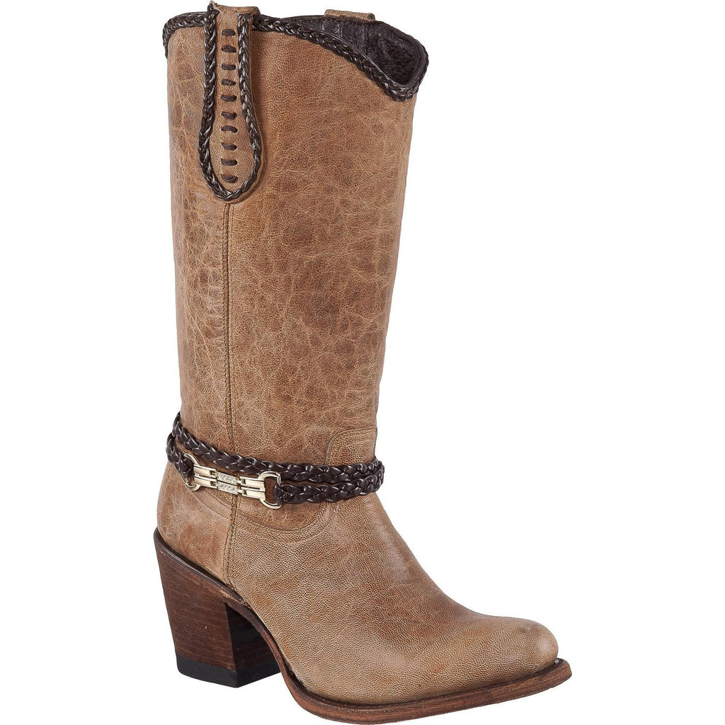 QUINCY Women Tan Boots - Round Toe