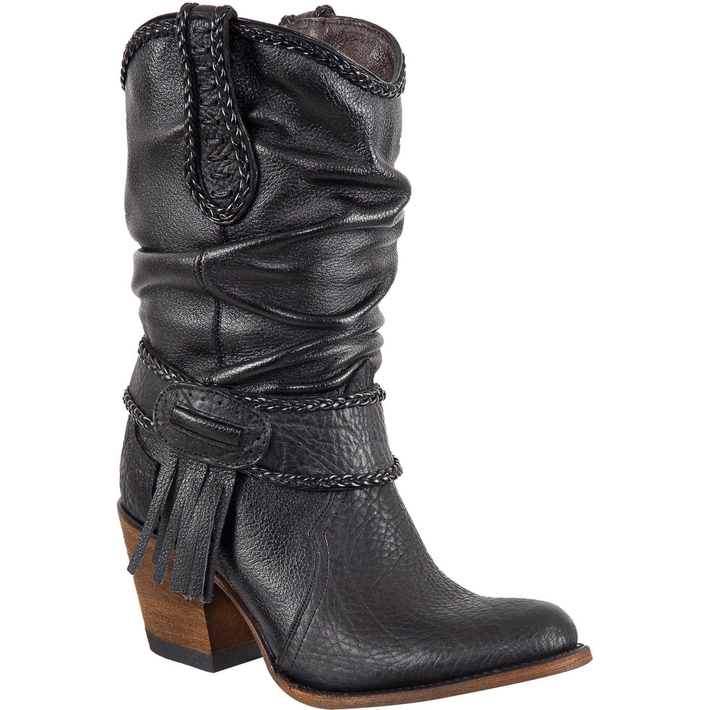 QUINCY Women's Black Boots - Round Toe