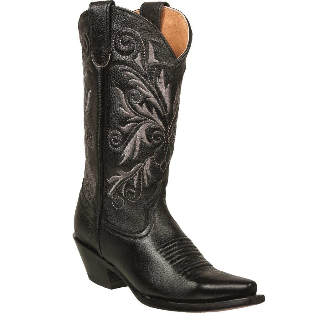 QUINCY Women's Black Western Boots - Snip Toe