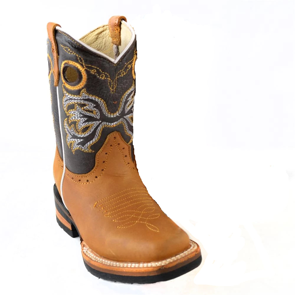 QUINCY Kids' Tan Rodeo Boots