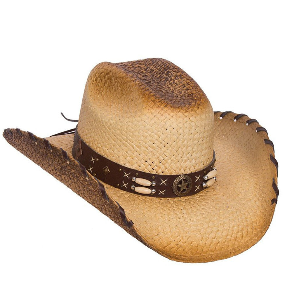 Women's Rustic Tan Straw Hat