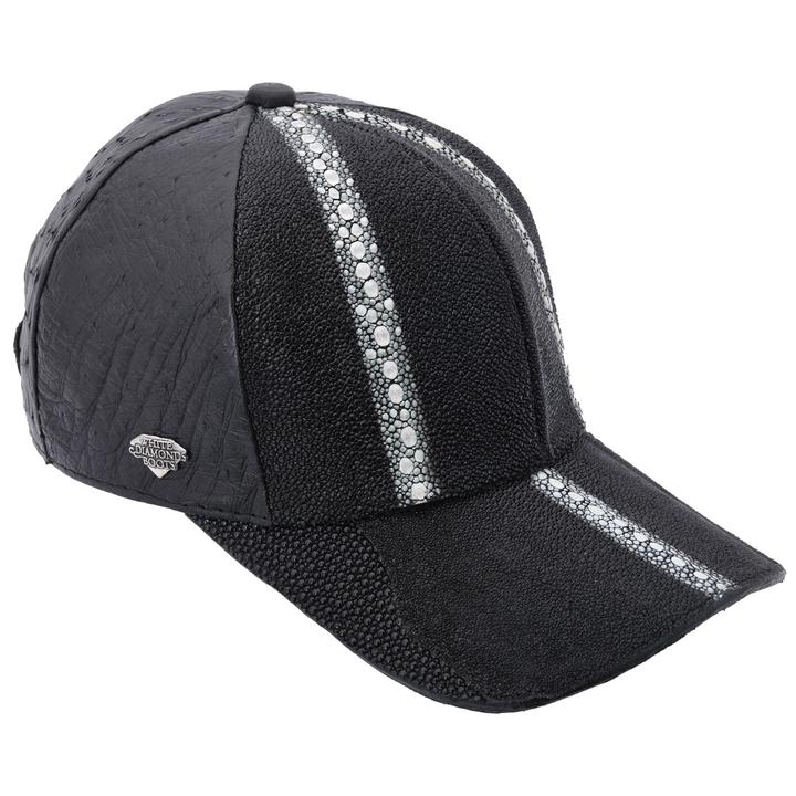 WHITE DIAMOND Black Stingray Cap