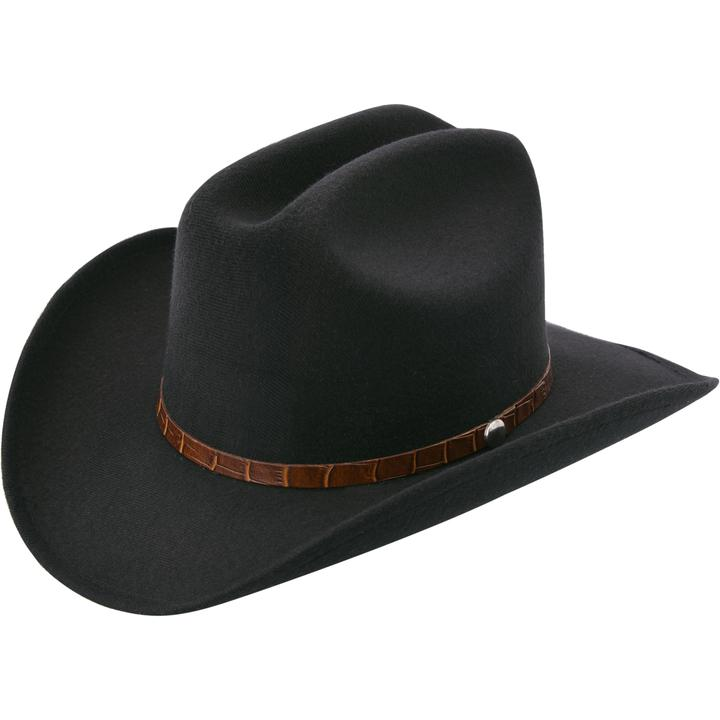 Kid's Black Felt Hat