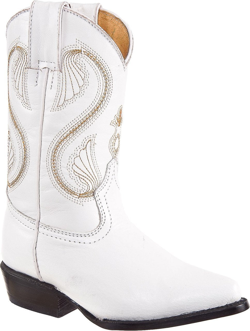 DIEGO'S Kids' White Goat Boots - Pointed Toe