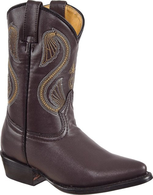 DIEGO'S Kids' Brown Goat Boots - Pointed Toe