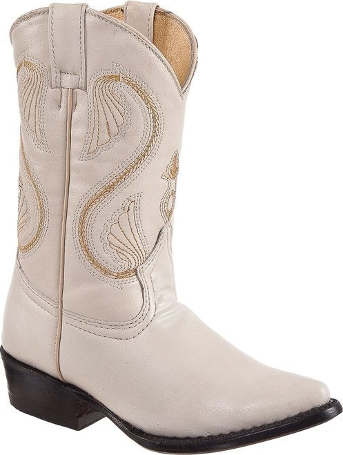 DIEGO'S Kids' Bone Goat Boots - Pointed Toe