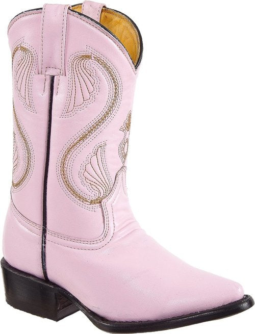 DIEGO'S Kids' Pink Goat Boots - Pointed Toe