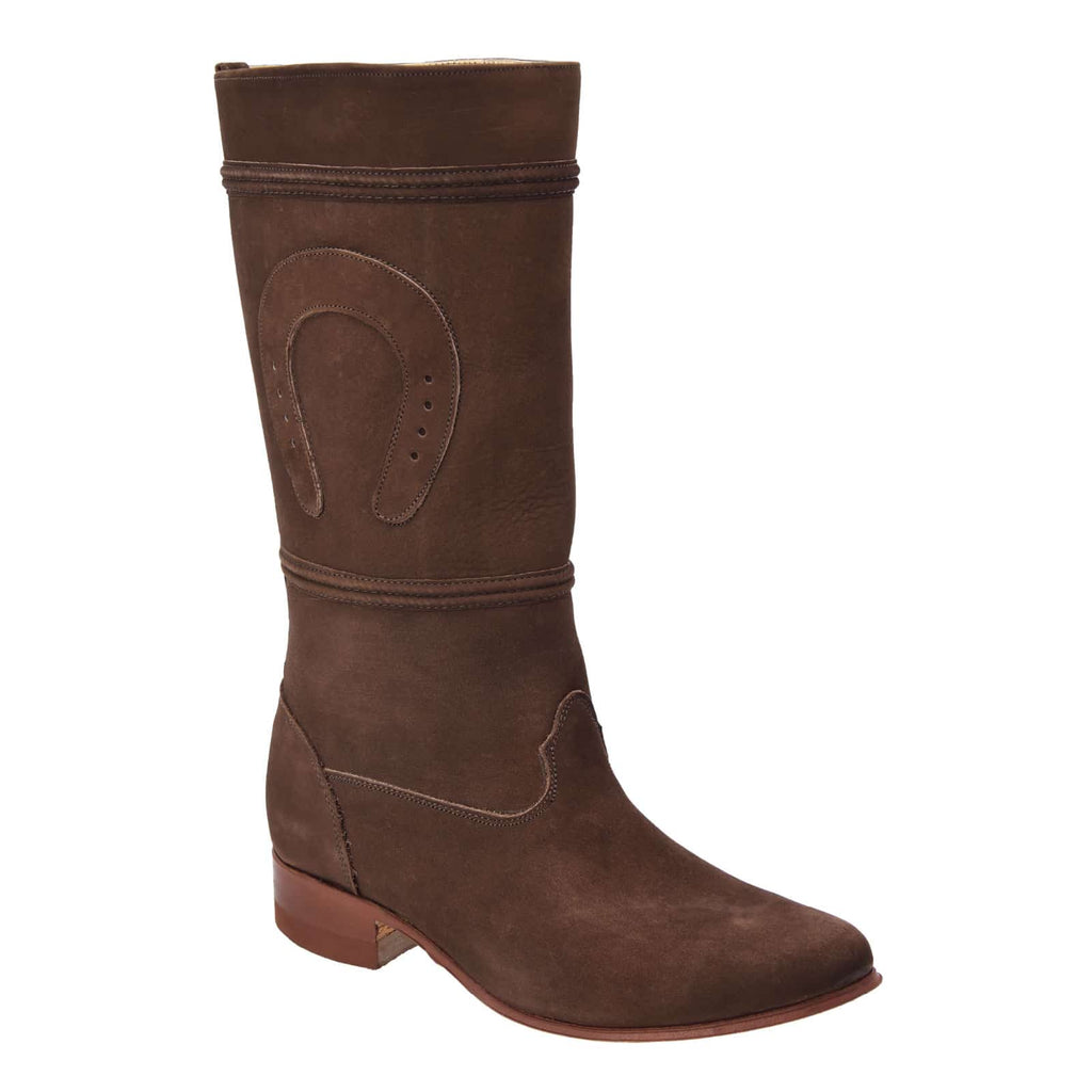 WHITE DIAMOND Women's Chocolate Suede Equestrian Boots - Escaramuza
