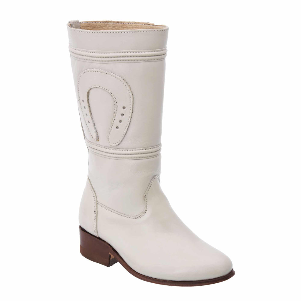 WHITE DIAMOND Women's Bone Equestrian Boots - Escaramuza