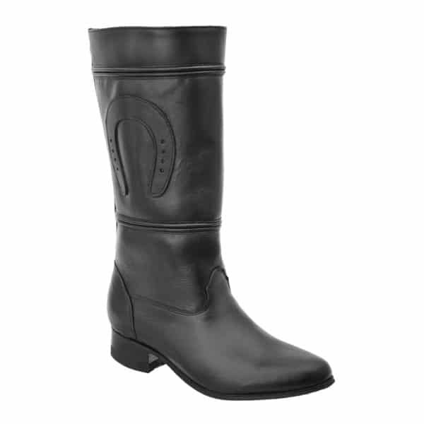 WHITE DIAMOND Women's Black Equestrian Boots - Escaramuza