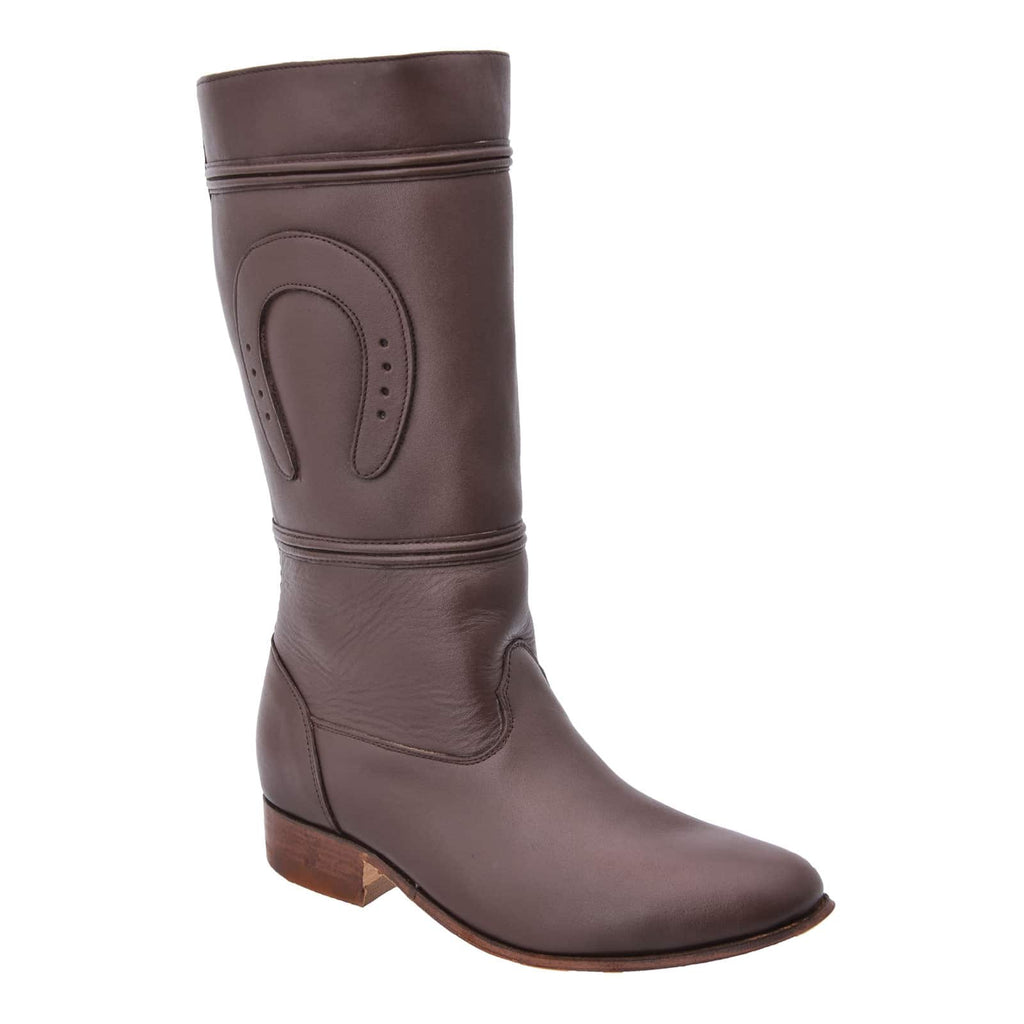 WHITE DIAMOND Women's Brown Equestrian Boots - Escaramuza
