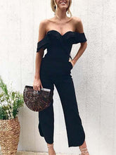 Load image into Gallery viewer, Black Sexy Stylish Off Shoulder Jumpsuit