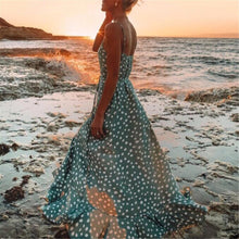 Load image into Gallery viewer, Polka Dot Ruffled Print Bohemian Holiday Wind Beach Dress